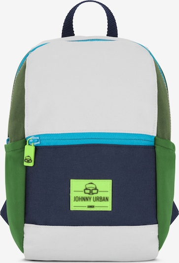 Johnny Urban Plecak 'Leo' w kolorze atramentowy / jabłko / trawa zielona / białym, Podgląd produktu