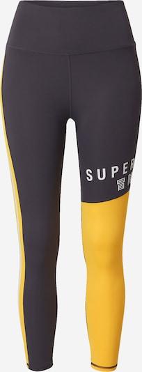 Superdry Pantalon de sport en jaune / gris / blanc, Vue avec produit