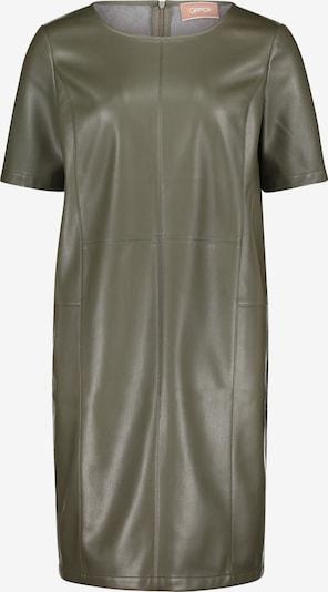 Cartoon Casual-Kleid aus Leder in dunkelgrün, Produktansicht