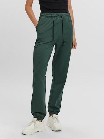 VERO MODA Püksid 'Octavia', värv roheline