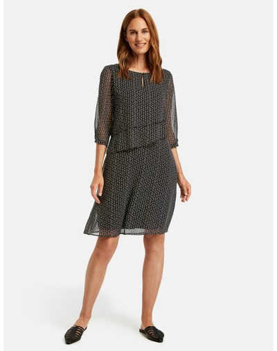GERRY WEBER Kleid in schwarz / weiß, Modelansicht