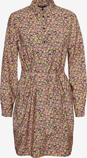 VERO MODA Kleid 'Ellie' in gelb / hellgrün / hellpink / schwarz, Produktansicht