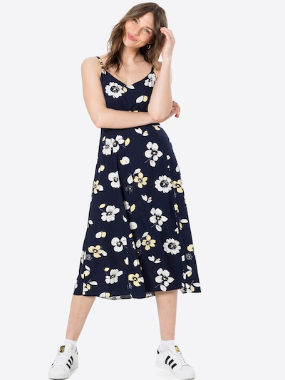 GAP Poletna obleka | temno modra / rumena / bela barva, Prikaz modela