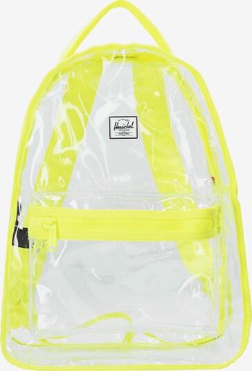 Herschel Rucksack 'Nova' in gelb / transparent, Produktansicht