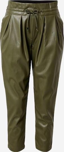 Karo Kauer Bandplooibroek in de kleur Kaki, Productweergave