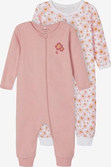 NAME IT Schlafanzug in gelb / rosa / weiß, Produktansicht
