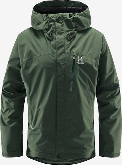 Haglöfs Outdoorjacke 'Astral GTX' in dunkelgrün / weiß, Produktansicht