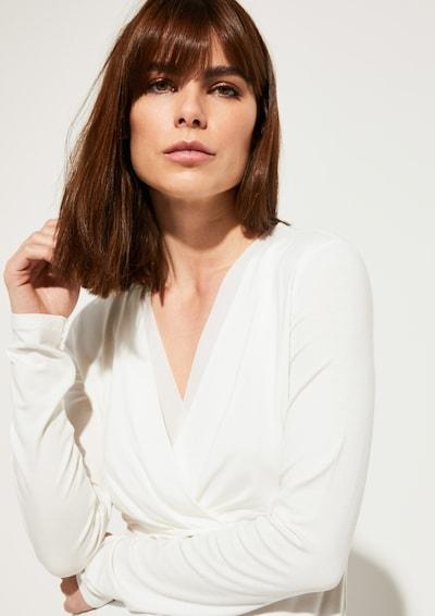 COMMA T-shirt en blanc naturel, Vue avec produit