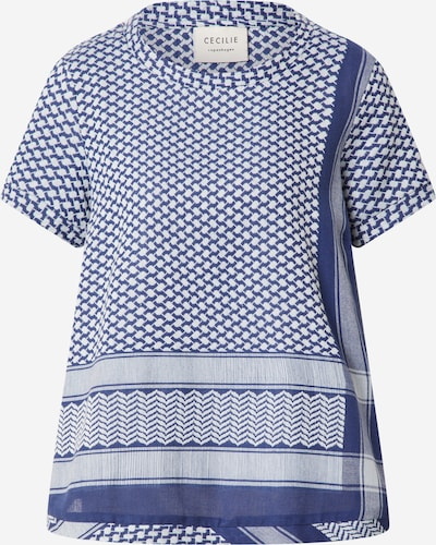 Cecilie Copenhagen Shirt in de kleur Donkerblauw / Wit, Productweergave