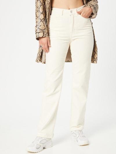 WEEKDAY Παντελόνι 'Rowe' σε φυσικό λευκό, Άποψη μοντέλου