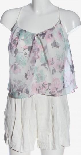 Pimkie Kurzer Jumpsuit in M in hellgrau / pink / weiß, Produktansicht