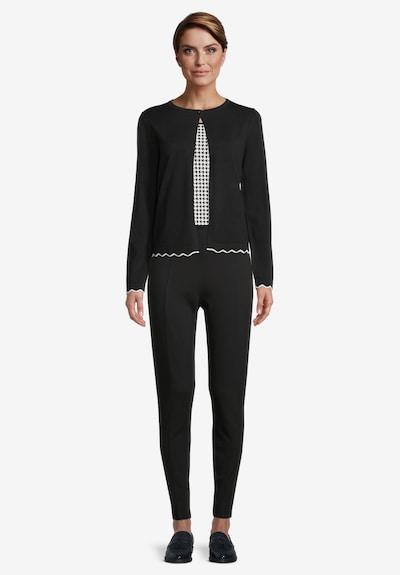 Betty Barclay Feinstrickjacke mit Schmuckkanten in schwarz, Modelansicht
