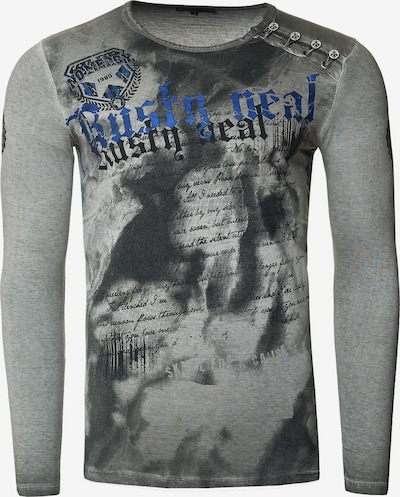 Rusty Neal Langarmshirt mit coolem Front-Print in anthrazit: Frontalansicht