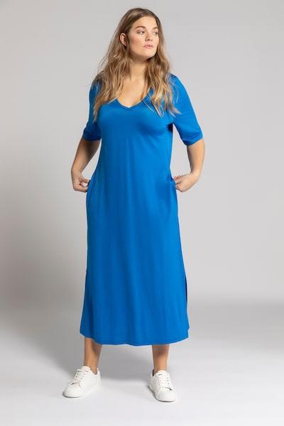 Ulla Popken Kleid in royalblau, Modelansicht