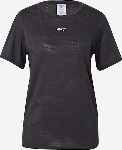 Reebok Sport Functioneel shirt 'Burnout' in de kleur Zwart / Wit, Productweergave