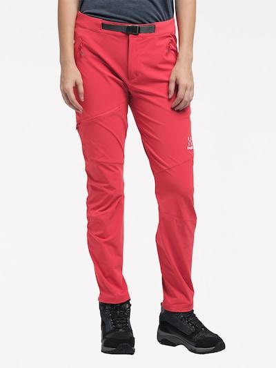 Haglöfs Outdoorhose 'Lizard' in pink / schwarz / weiß: Frontalansicht