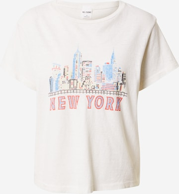 RE/DONE Skjorte 'NY SKYLINE' i hvit