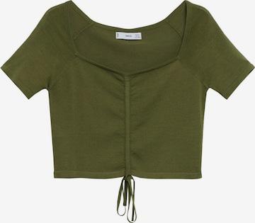 MANGO Shirt in Groen