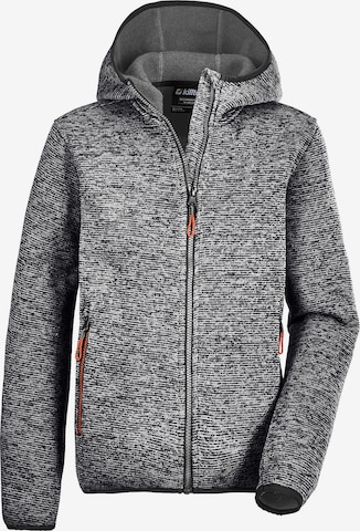 KILLTEC Knit Cardigan 'Kow' in Grey