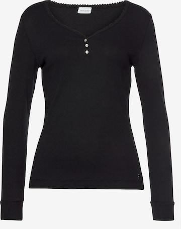 LASCANA Shirt in Zwart