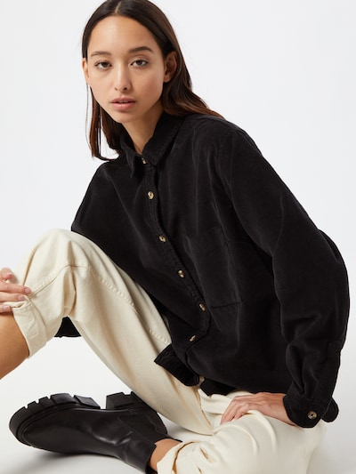 Urban Classics Blouse in de kleur Zwart, Modelweergave