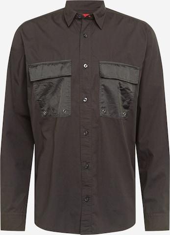 HUGO Hemd 'Ekami' in Schwarz