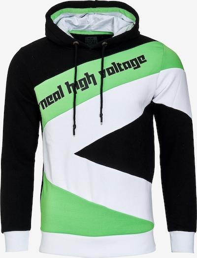 Rusty Neal Kapuzenpullover in grün / schwarz / weiß, Produktansicht