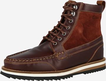 Boots stringati 'Durston' di CLARKS in marrone