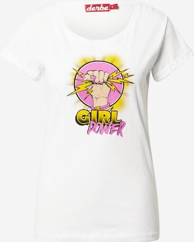 Derbe Тениска в бежово / жълто / лилав / черно / бяло, Преглед на продукта