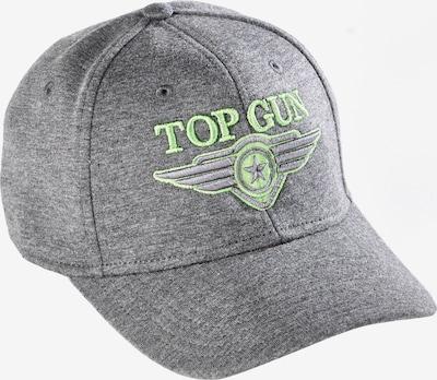 TOP GUN Cap in graumeliert / kiwi, Produktansicht