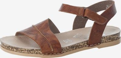 RIEKER Sandales à lanières en marron, Vue avec produit