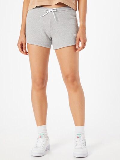 Reebok Sport Shorts in graumeliert / weiß, Modelansicht