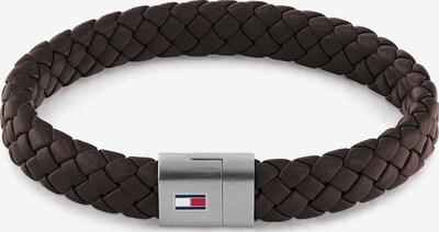 TOMMY HILFIGER Bracelet in Dark brown / Silver, Item view