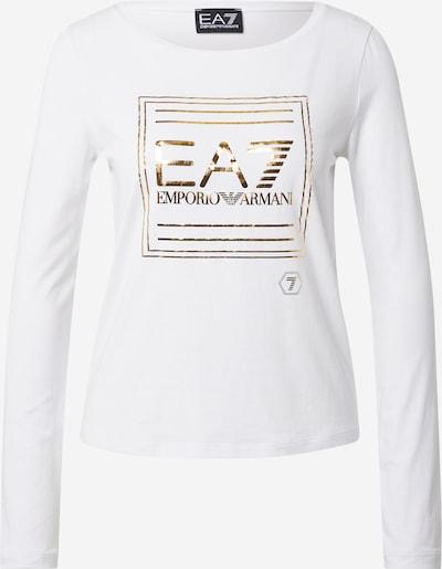 EA7 Emporio Armani Μπλουζάκι σε χρυσό / λευκό, Άποψη προϊόντος