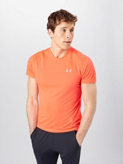 UNDER ARMOUR Funkční tričko 'Streaker 2.0' - světle šedá / jasně oranžová: Pohled zepředu