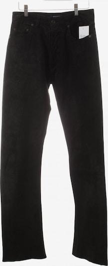 HALLHUBER Lederhose in M in schwarz, Produktansicht