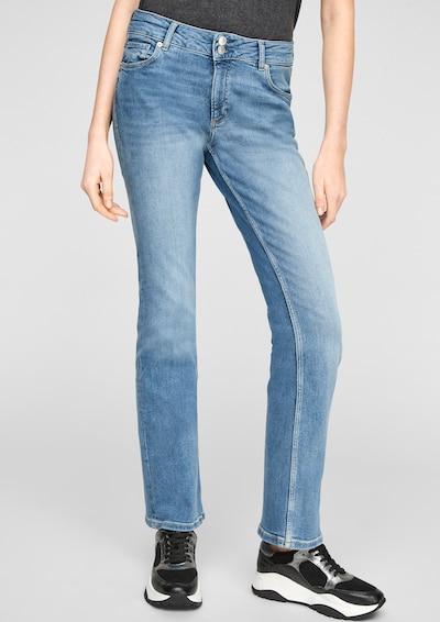 Q/S designed by Jeans in blau / blue denim, Modelansicht