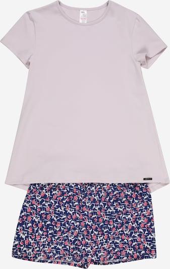 Skiny Pyjama in dunkelblau / pastelllila / pink / weiß, Produktansicht