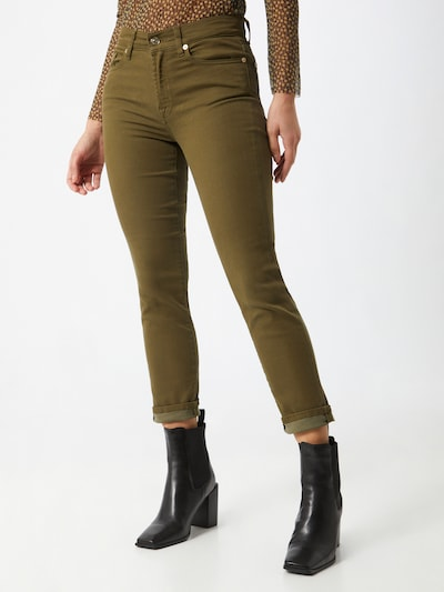 7 for all mankind Jeans 'ROXANNE' in khaki, Modelansicht