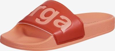 SUPERGA Badeschuhe in orange / rot, Produktansicht