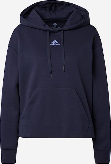 ADIDAS PERFORMANCE Спортен блузон с качулка 'W DK 3S SWT HD' в черно: Изглед отпред