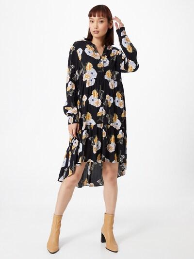 PIECES Kleid 'Nadi' in gelb / khaki / schwarz / weiß, Modelansicht