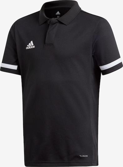 ADIDAS PERFORMANCE Poloshirt in schwarz / weiß, Produktansicht