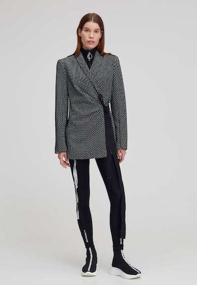 MONOSUIT Jackenblazer in schwarz / weiß, Modelansicht
