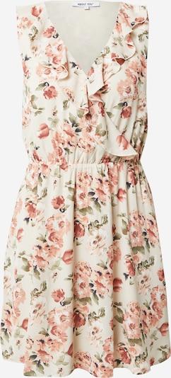 ABOUT YOU Kleid 'Dena' in creme / grün / rosa, Produktansicht