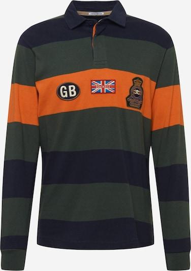 Hackett London Shirt in de kleur Nachtblauw / Donkergroen / Sinaasappel, Productweergave
