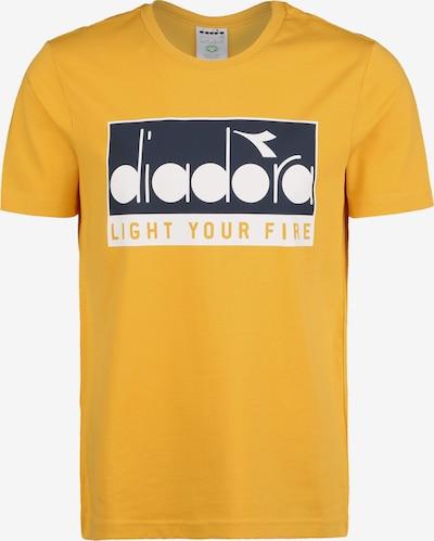 Diadora T-Shirt '5Palle Targa' in gelb / schwarz / weiß, Produktansicht
