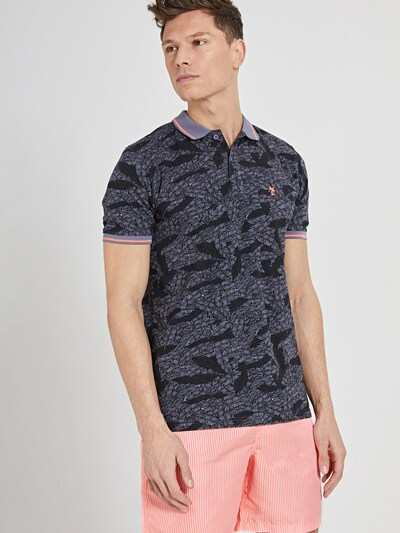 Shiwi Tričko - modrosivá / sivá / koralová / čierna: Pohľad spredu
