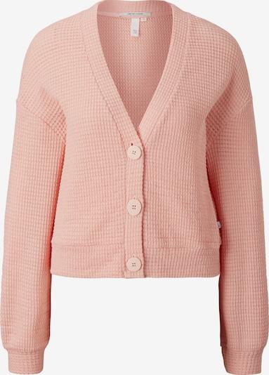Q/S designed by Gebreid vest in de kleur Pink: Vooraanzicht