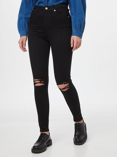 NA-KD Jeans in black denim, Modelansicht